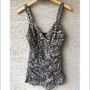 Express Leopard Lace Tank blouse! Worn once